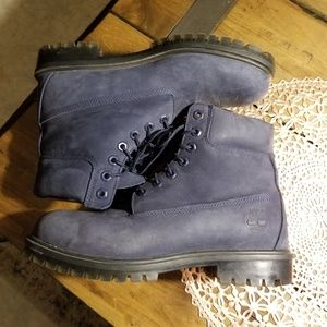 Navy Blue Mens Timberland Boots Size US 9